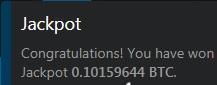 jackpot luckygames 0.10159644 BTC