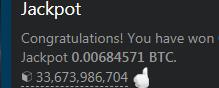 Jackpot-12/07/2018 0.00684571 BTC
